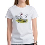 white Polish Chickens Women's T-Shirt