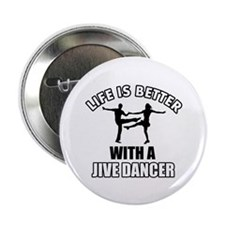 "Jive silhouette designs 2.25"" Button (100 pack)"