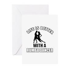 Rumba silhouette designs Greeting Cards (Pk of 20)
