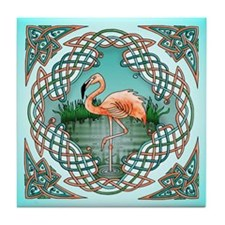 Celtic Flamingo Art Tile Coaster