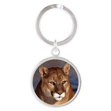 Mountain Lion Round Keychain