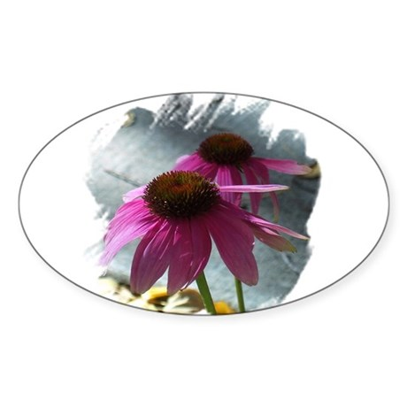 Windflower Oval Sticker