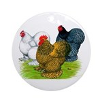 Assorted Cochins Ornament (Round)