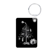 Gothic Christmas Tree Keychains