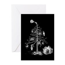 Gothic Christmas Tree Greeting Cards (Pk of 10)