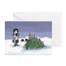 Felling The Holiday Tree Greeting Card