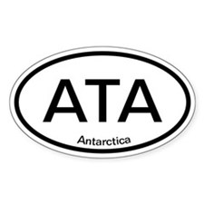 ATA Antarctica Oval Decal