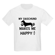 My Daschund dog makes me happy T-Shirt