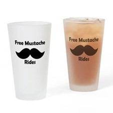 Free Mustache Rides Drinking Glass