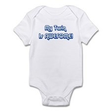 My Twin is Awesome Infant Bodysuit
