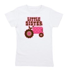 Pink Tractor Little Sister Girl's Tee