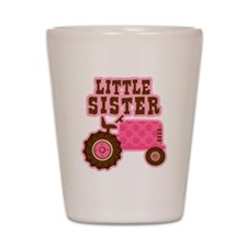 Pink Tractor Little Sister Shot Glass