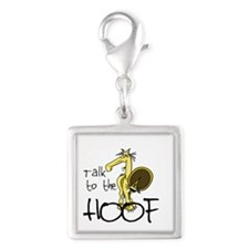 Talk to the Hoof Silver Square Charm