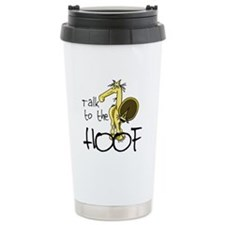 Talk to the Hoof Ceramic Travel Mug