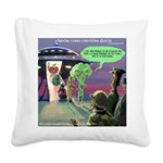 Spaced-Out Vegan Square Canvas Pillow