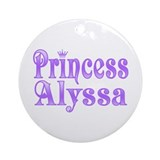 """Princess Alyssa"" Ornament (Round)"