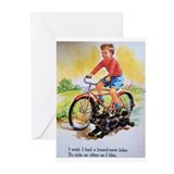 Bicycle art Greeting Cards (10 Pack)