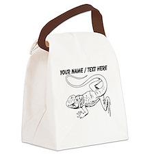Custom Lizard Sketch Canvas Lunch Bag