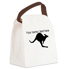 Custom Kangaroo Silhouette Canvas Lunch Bag