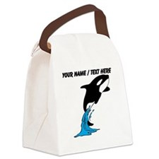 Custom Jumping Whale Canvas Lunch Bag