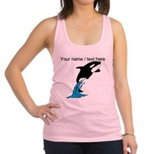 Custom Jumping Whale Racerback Tank Top