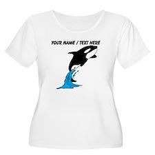 Custom Jumping Whale Plus Size T-Shirt