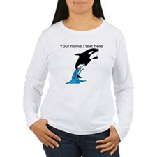 Custom Jumping Whale Long Sleeve T-Shirt