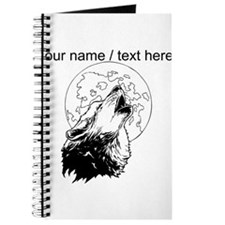 Custom Wolf Howling At Moon Journal