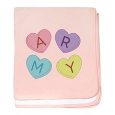 Army Sweettarts baby blanket