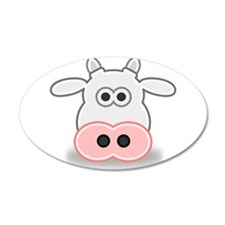 Cartoon Cow Face Wall Decal