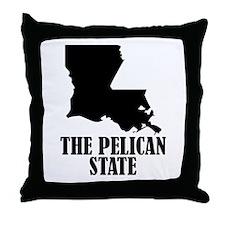 Louisiana The Pelican State Throw Pillow