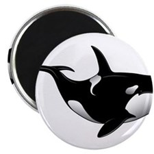 "Black Whale 2.25"" Magnet (10 pack)"