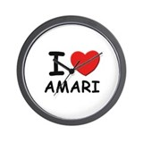 I love Amari Wall Clock