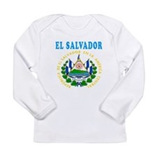 El Salvador Coat Of Arms Designs Long Sleeve Infan