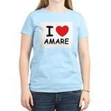 I love Amare Women's Pink T-Shirt