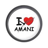 I love Amani Wall Clock