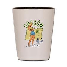 Oregon Pinup Shot Glass
