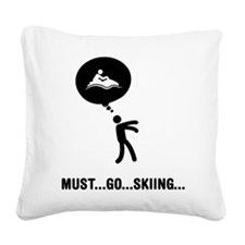 Jet Skiing Square Canvas Pillow