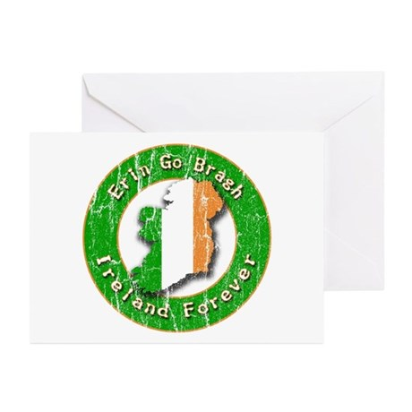 Erin Go Bragh Retro Irish Greeting Cards (Package