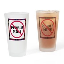 Nopebblemine Drinking Glass (Plaid)