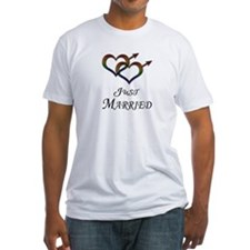 Just Married - Hearts - Gay Pride - Light T-Shirt