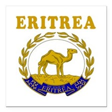 Eritrea Coat Of Arms Designs Square Car Magnet 3""