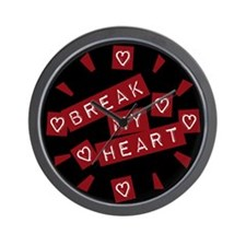 Break My Heart Wall Clock