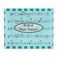retired music teacher 2 Throw Blanket