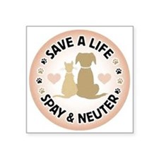 Save A Life Spay & Neuter Sticker