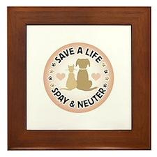 Save A Life Spay & Neuter Framed Tile