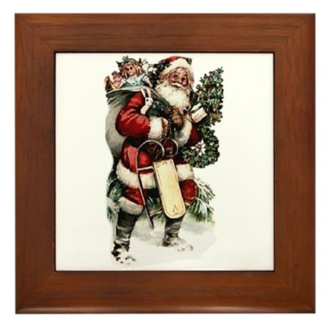 santa.png Framed Tile