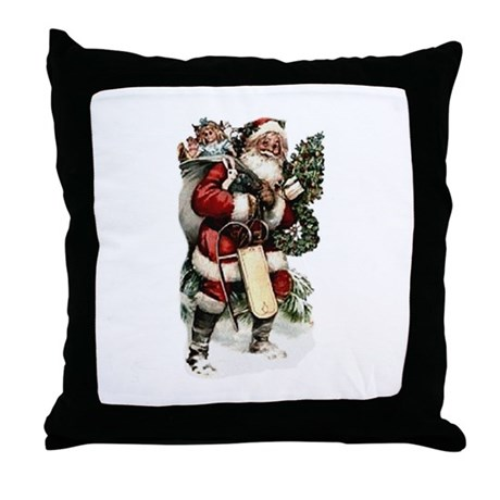 santa.png Throw Pillow