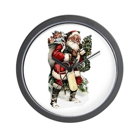 santa.png Wall Clock