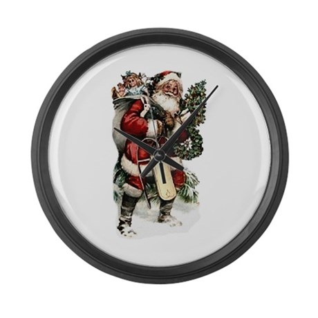 santa.png Large Wall Clock